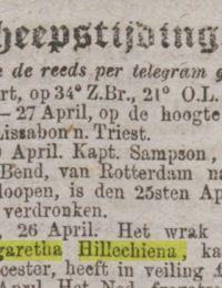 Algemeen handelsblad 03-05-1877 margaretha hillechiena Porthleven 2