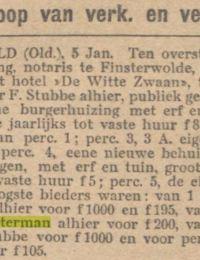 b westerman krantenartikel aankoop huis 07011910 nvn