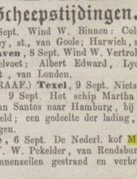 Dagblad van Zuidholland en gravenhage 10-09-1864 margaretha hillechiena Rugenwalde