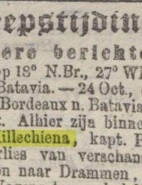 Algemeen handelsblad 04-11-1875 margaretha hillechiena Granton