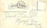 Briefkaart Jacob Zelvius achterkant