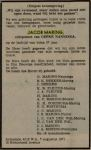 Jacob Maring overlijdensbericht