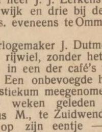 Horlogemaker J. Dutmer