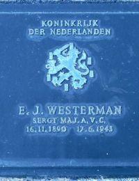Grafsteen Ernestus Jacobus Westerman