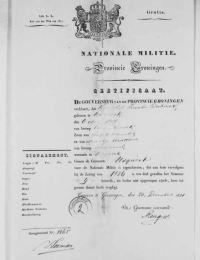 Militaire dienst Kornelis Jacobs Dutmer