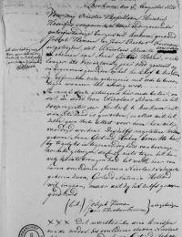 Overlijden Nicolaas Swarte uit Beckum, bevestigd door Anna Gertrud Hahne