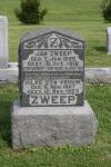 Grafsteen Jan Zweep en Hilke Klooster