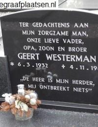 Grafsteen Geert Westerman