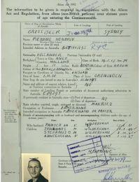 Immigratieformulier Australie van Hendrik Piening