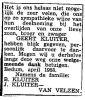 Krantenbericht ouders bedankt Geert Kluiter