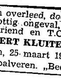 Krantenbericht voetbalvereniging Geert Kluiter